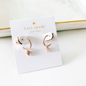 ❤️ ❤️ Kate Spade Dainty Heart Huggies Earrings